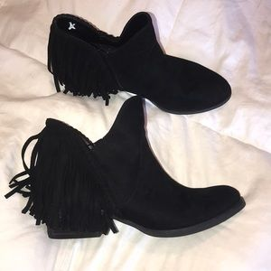 Not rated black suede ankle boots